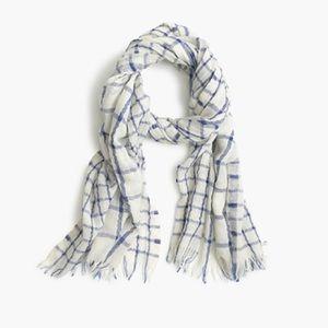 JCrew windowpane scarf nwt